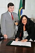 Assinatura do termo de adesão à Campanha da Acessibilidade pela Câmara e Senado