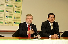 Entrevista Coletiva - Presidente Marco Maia e Dep. Miguel Correia, Ouvidor da Câmara