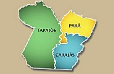 Mapa Divisão Pará Carajás Tapajós