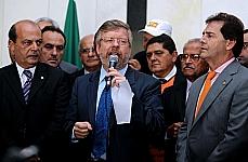 Presidente Marco Maia recebe manifestantes da Força Sindical