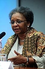 Luiza Bairros (ministra chefe da Secretaria de Políticas de Promoção da Igualdade Racial da Presidência da Rapública)