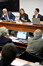 Dep. Miro Teixeira (PDT-RJ), dep. Manuela D·ávila (PCdoB-RS) e dep. Bruno Araújo (PSDB-PE)