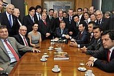 Reunião de integrantes do PSD com o presidente Marco Maia