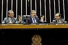Dep André Figueiredo (pres. nacional do PDT), presidente Marco Maia, dep. Vieira da Cunha (PDT-RS)