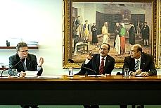 Frente da mineração deputado Giroto (E) e Lourival (C)