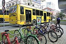 Terminal central de Joinville, conhecida como a cidade das bicicletas