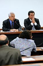 Dep. Arlindo Chinaglia (PT/SP) e o senador Vital do Rêgo (PMDB/PB)