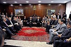 Presidente da Câmara Marco Maia e do Senado José Sarney, durante reunião com governadores