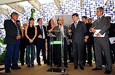 Dep. Chico Alencar, Fernanda Abreu (artista), dep Jandira Feghalli, Leoni (artista), sen. Randolfe e dep. Alessandro Molon