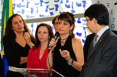 Dep. Jandira Feghali (PCdoB/RJ), dep. Professora Dorinha Seabra (DEM/to), Fernanda Abreu (artista),sen. Randolfe