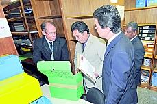CPI/ CPMI - CPMI do Cachoeira - Guarda de documentos sigilosos em sala especial para evitar vazamentos - Vital do Rêgo (presidente) e Odair Cunha (relator)