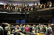 Visitantes manifestaram-se nas galerias do Plenário