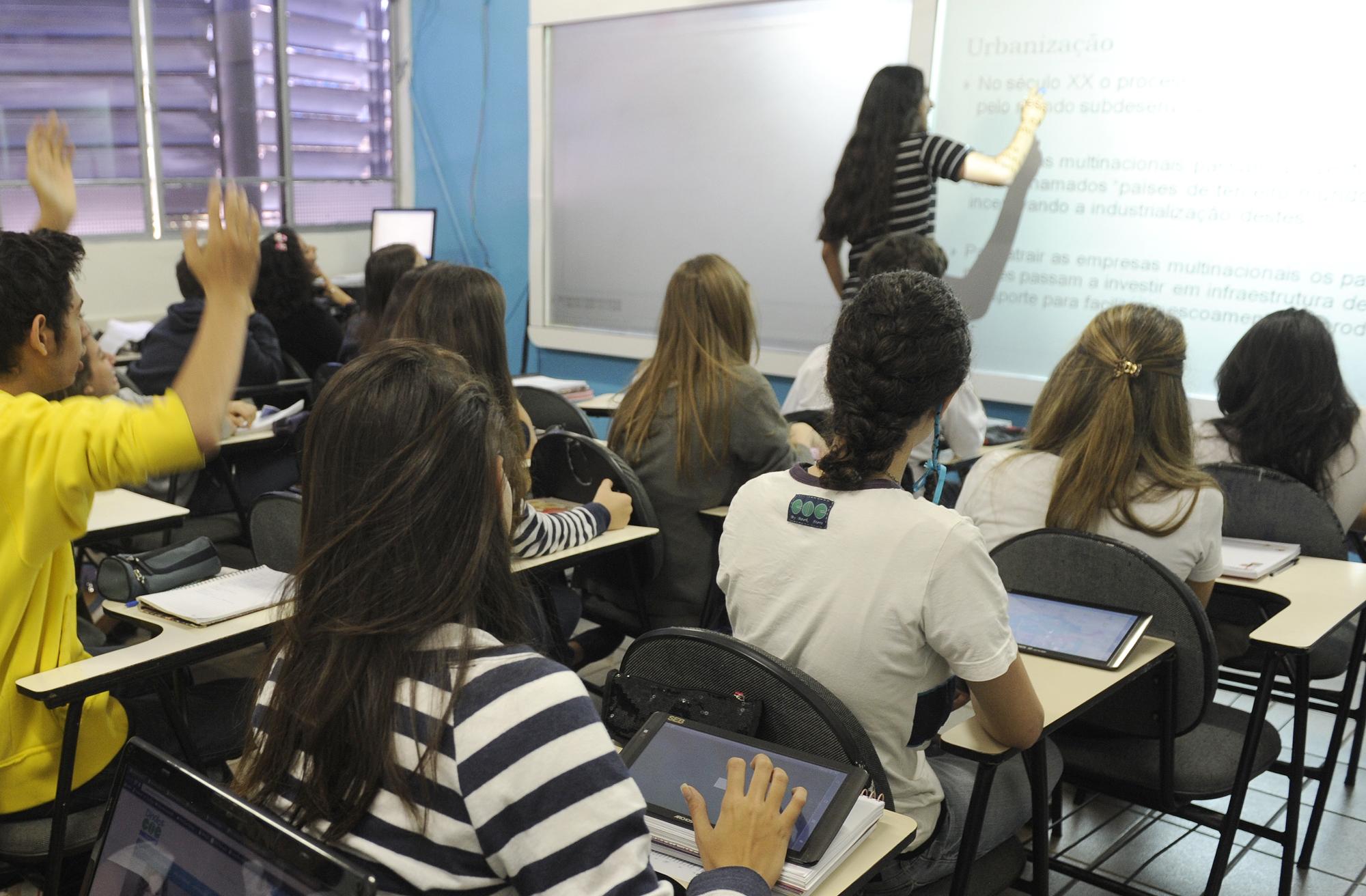 Uso de tablets nas escolas
