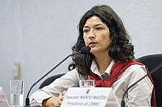 coordenadora-geral de Desenvolvimento Sustentável do Ministério do Desenvolvimento, Indústria e Comércio, Beatriz Martins Carneiro, em audiência na Comissão Mista de Mudanças Climáticas.