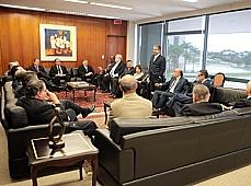 Reunião do presidente do STF, ministro Ayres Britto, com lideranças partidárias.
