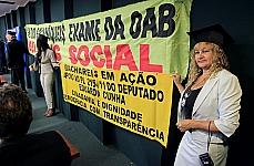 Manifestantes pelo fim do exame da OAB