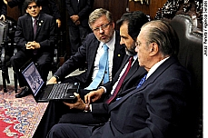 Reunião dos presidentes José Sarney e Marco Maia com o governador Agnelo Queiroz.