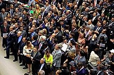 Sessão do Congresso para análise de vetos sobre royalties