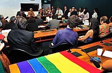 Reunião dos deputados membros da CDHM e outros parlamentares insatisfeitos com a eleição do novo presidente da Comissão de Direitos Humanos, dep. Pastor Marco Feliciano. Dep. Padre Ton (PT-RO)