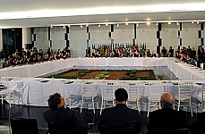 Reunião sobre pacto federativo com prefeitos e líderes
