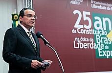 Instituto Palavra Aberta em parceria com a Câmara dos Deputados discutem os 25 anos da Constitucional Brasileira na ótica da Liberdade de Expressão. Presidente da Câmara, dep. Henrique Eduardo Alves (PMDB-RN)