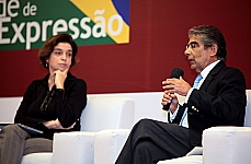 Instituto Palavra Aberta em parceria com a Câmara dos Deputados discutem os 25 anos da Constitucional Brasileira na ótica da Liberdade de Expressão. (D) Ministro do Superior Tribunal de Justiça (STJ), Ayres Britto