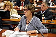 Audiência Pública (REQ's 3, 4, 6 e 7/13) e Reunião Ordinária. presidente da Sociedade Brasileira para o Progresso da Ciência (SBPC), Helena Náder