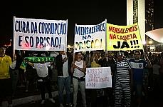 Manifestação no Gramado do Congresso Nacional
