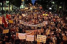 Manifestação - Passeata no centro do Rio protesta em frente à Federação de Transportes do Rio de Janeiro.027/06/13