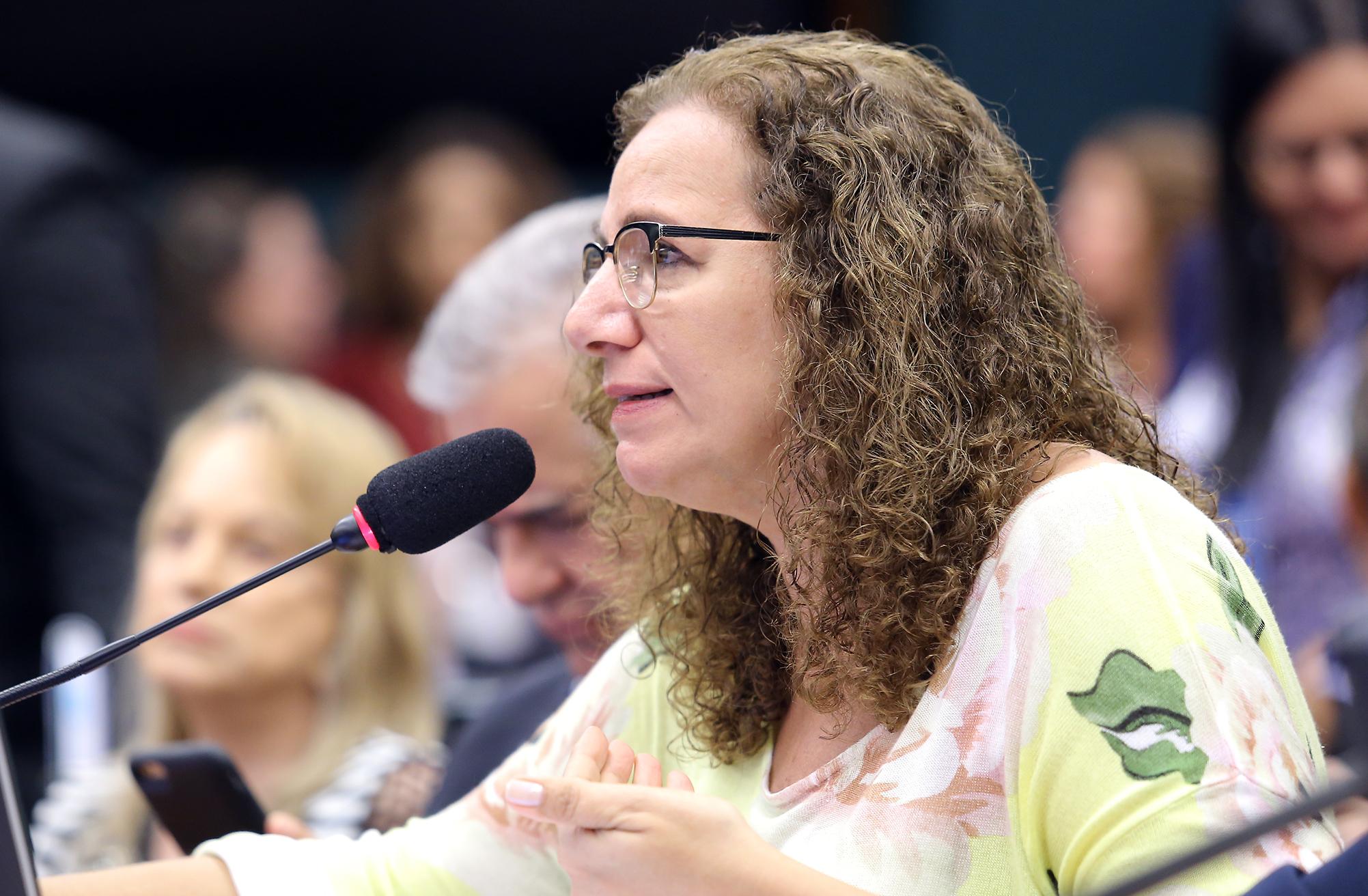 Reunião ordinária para votação do parecer do relator, dep. Arthur Oliveira Maia (PPS-BA). Dep. Jandira Feghali (PCdoB-RJ)