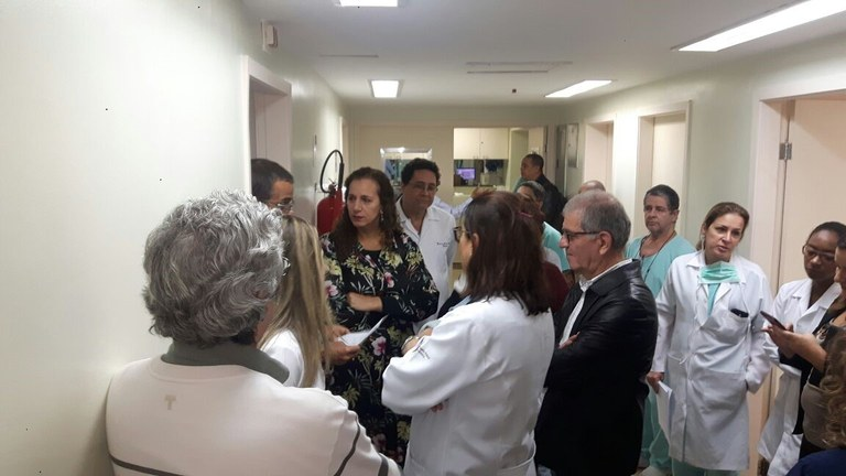Saúde Hospitais Comissão externa Rio de Janeiro Jandira Feghali