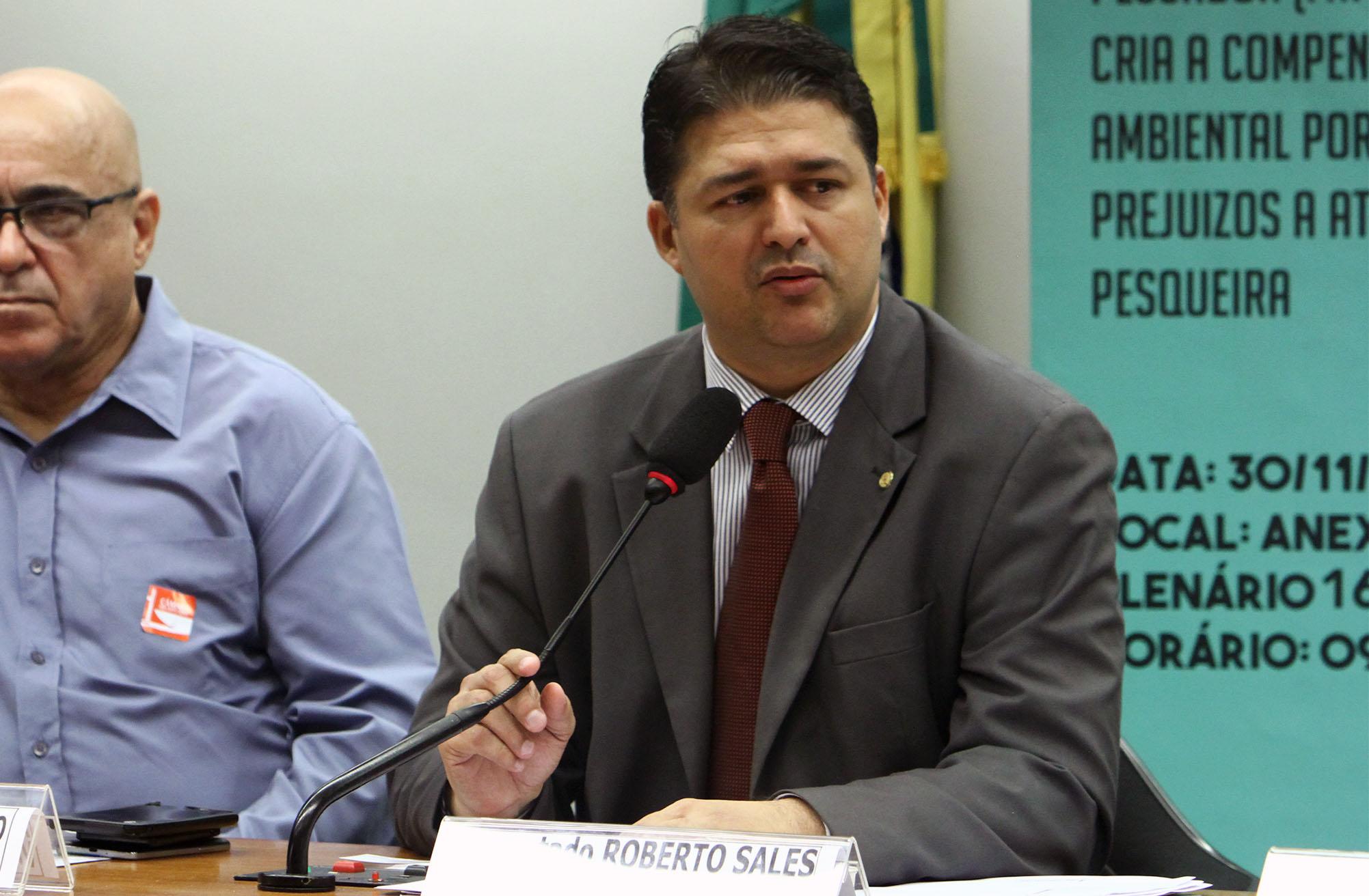 Audiência pública para discussão do PL 4.414/16, que institui o Fundo de Amparo ao Pescador (FAP) e cria a compensação ambiental por prejuízos a atividade pesqueira. Dep. Roberto Sales (PRB - RJ)