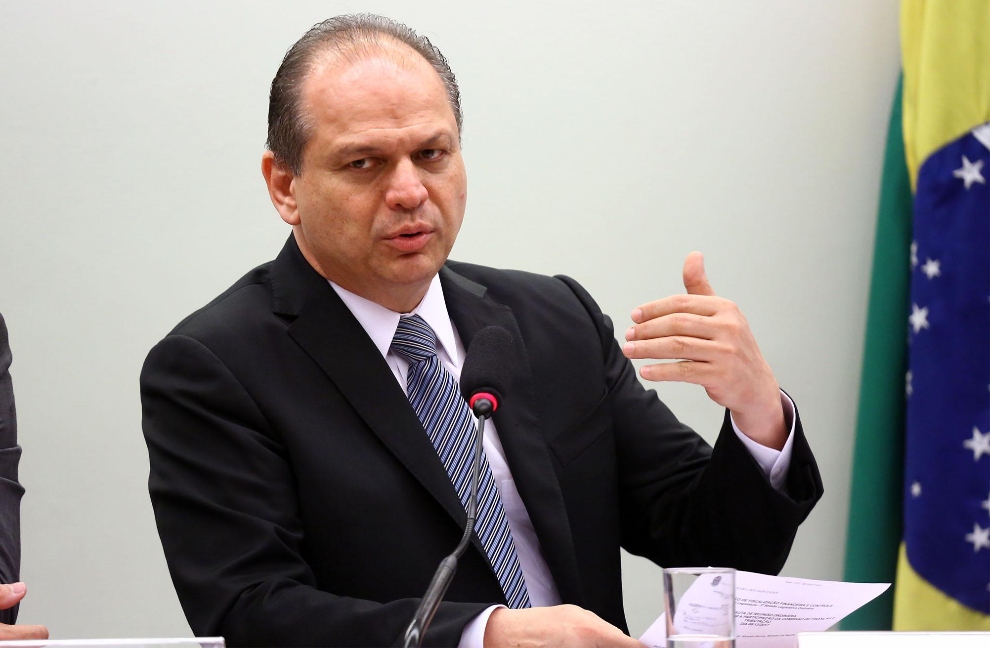 Audiência pública para explicar o processo de escolha de empresa cubana para fabricação de medicamento. Ministro da Saúde, Ricardo Barros