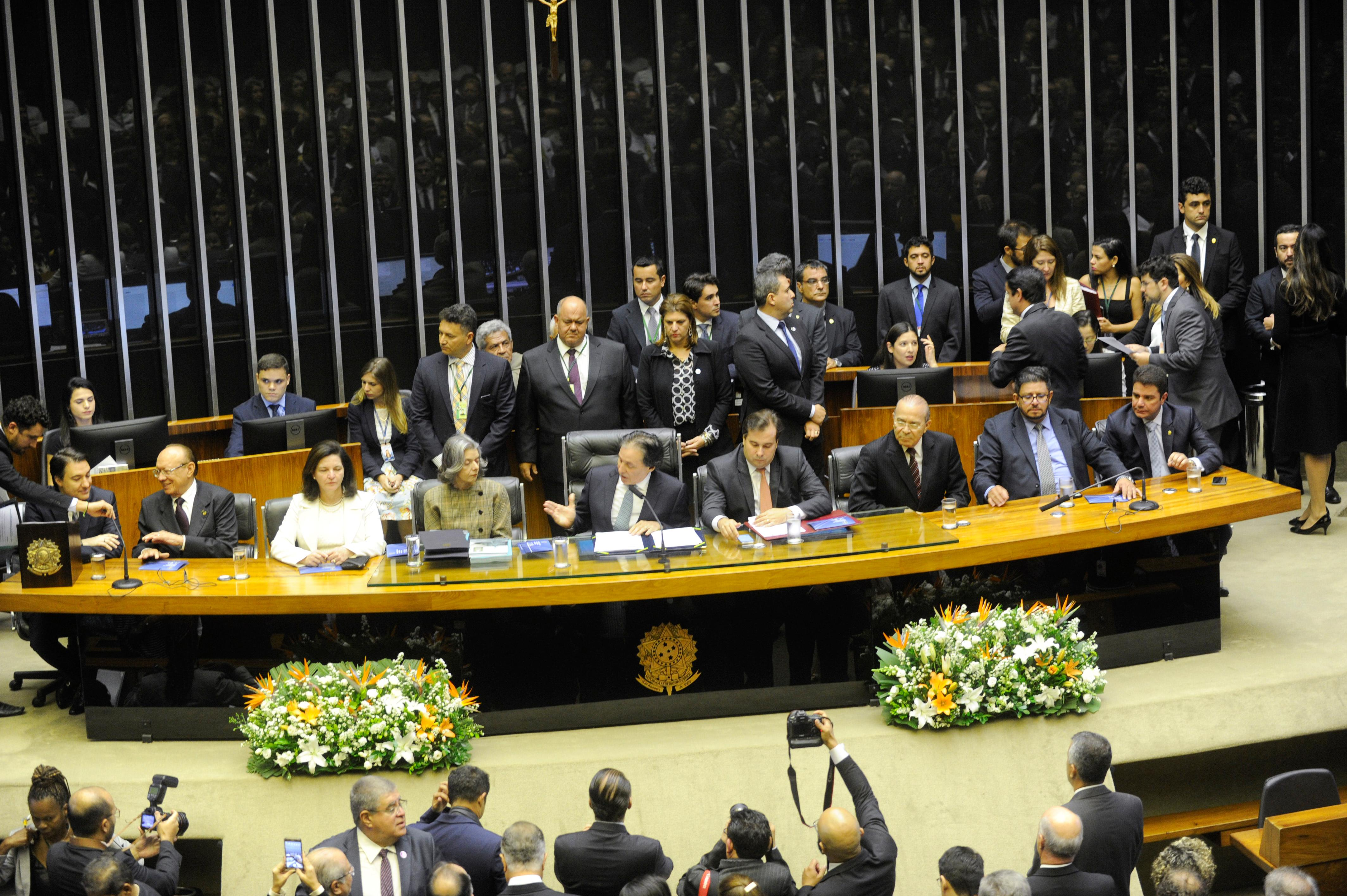 Sessão de abertura do ano legislativo.