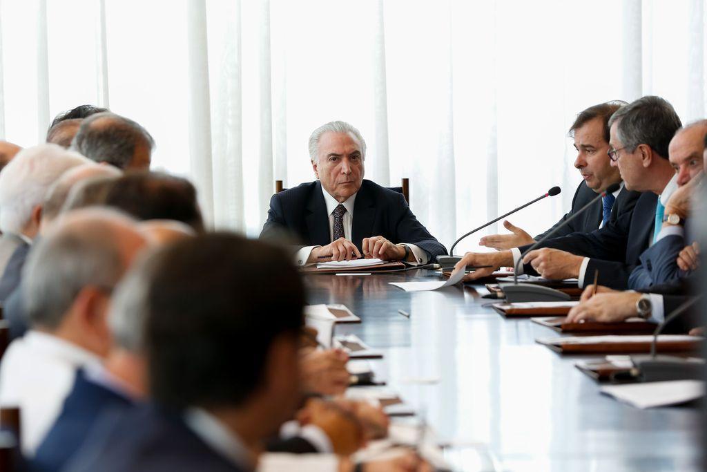 Fotos do Dia - presidente Michel Temer reunião Conselho de República