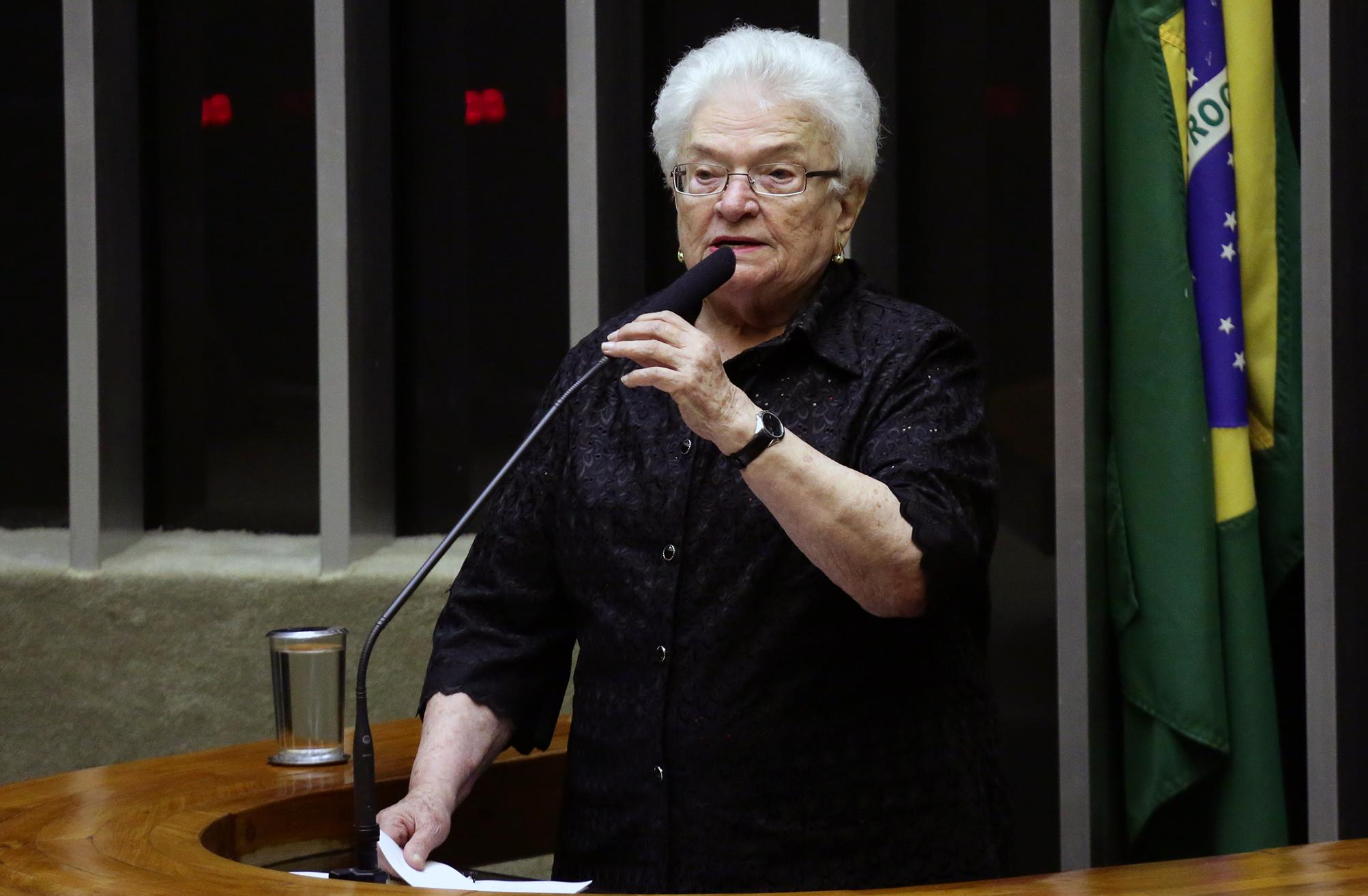 Homenagem à vereadora do PSOL, Marielle Franco, morta ontem no Rio de Janeiro. Dep. Luiza Erundina (PSOL - SP)
