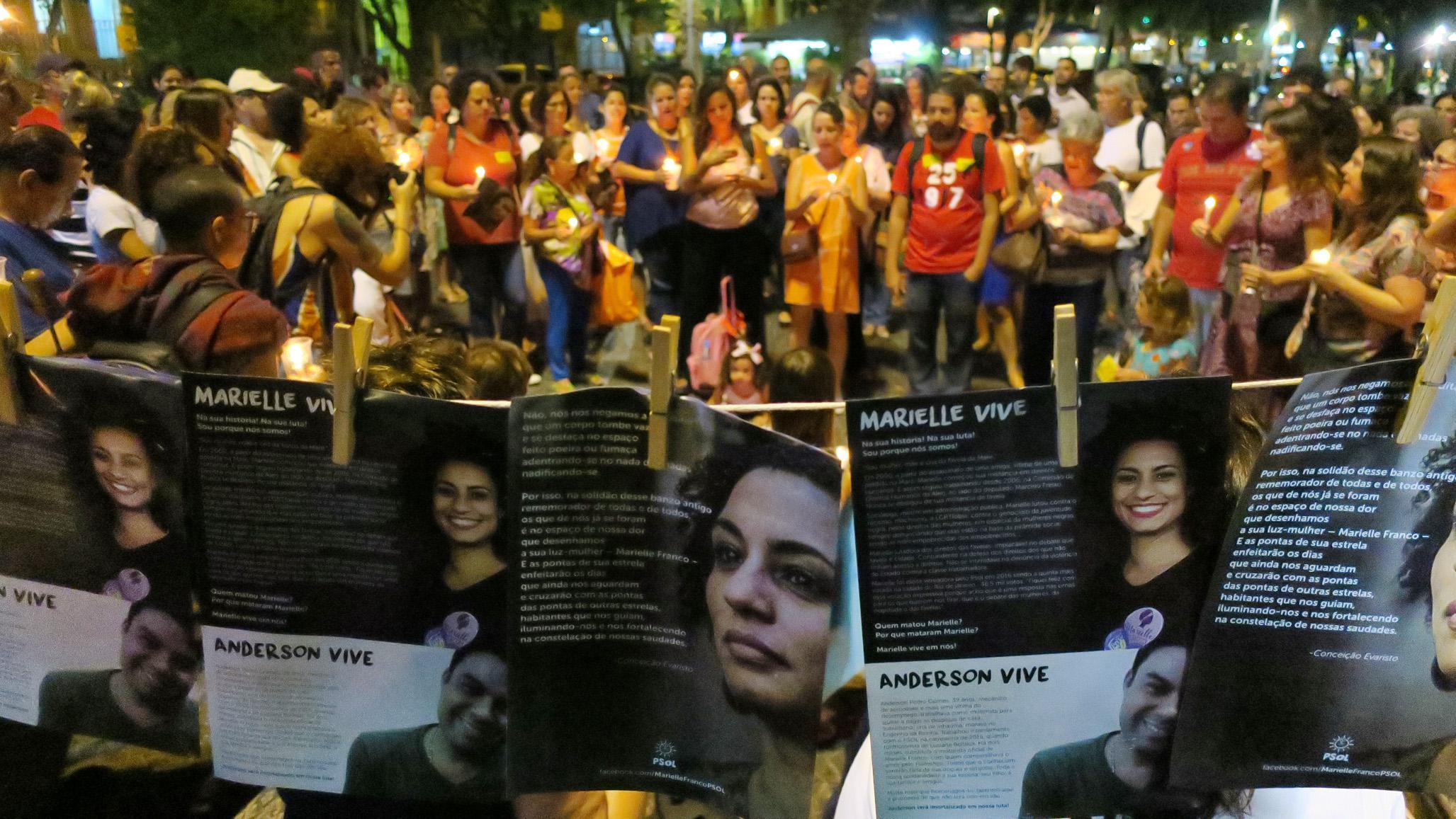 Manifestações em homenagem a vereadora Marielle Franco