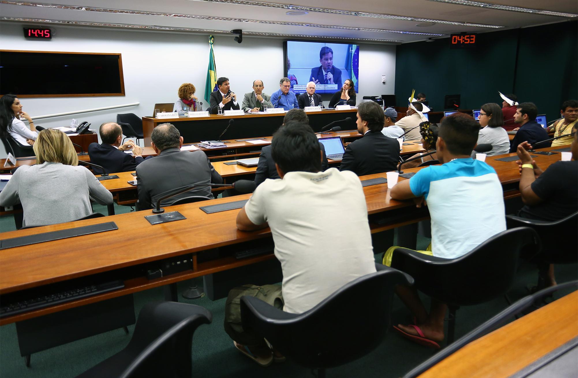 Audiência pública sobre o descumprimento das condicionantes ambientais, por parte do Consórcio Norte Energia, na construção da Usina Hidrelétrica de Belo Monte na Bacia do Xingu