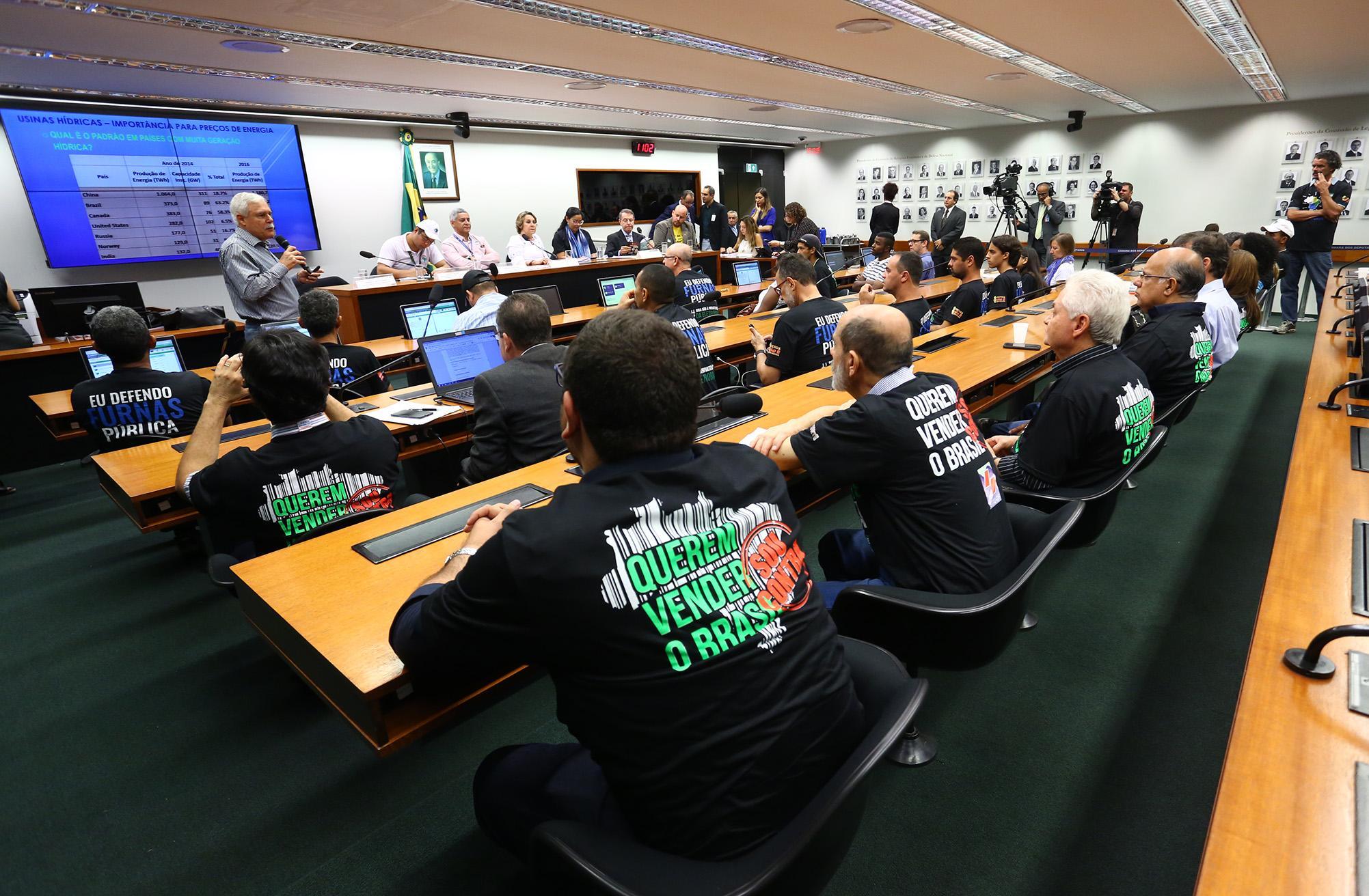 Audiência Pública Ordinária para discutir o Projeto de Lei nº 9.463 de 2018, que dispõe sobre a desestatização da Eletrobrás