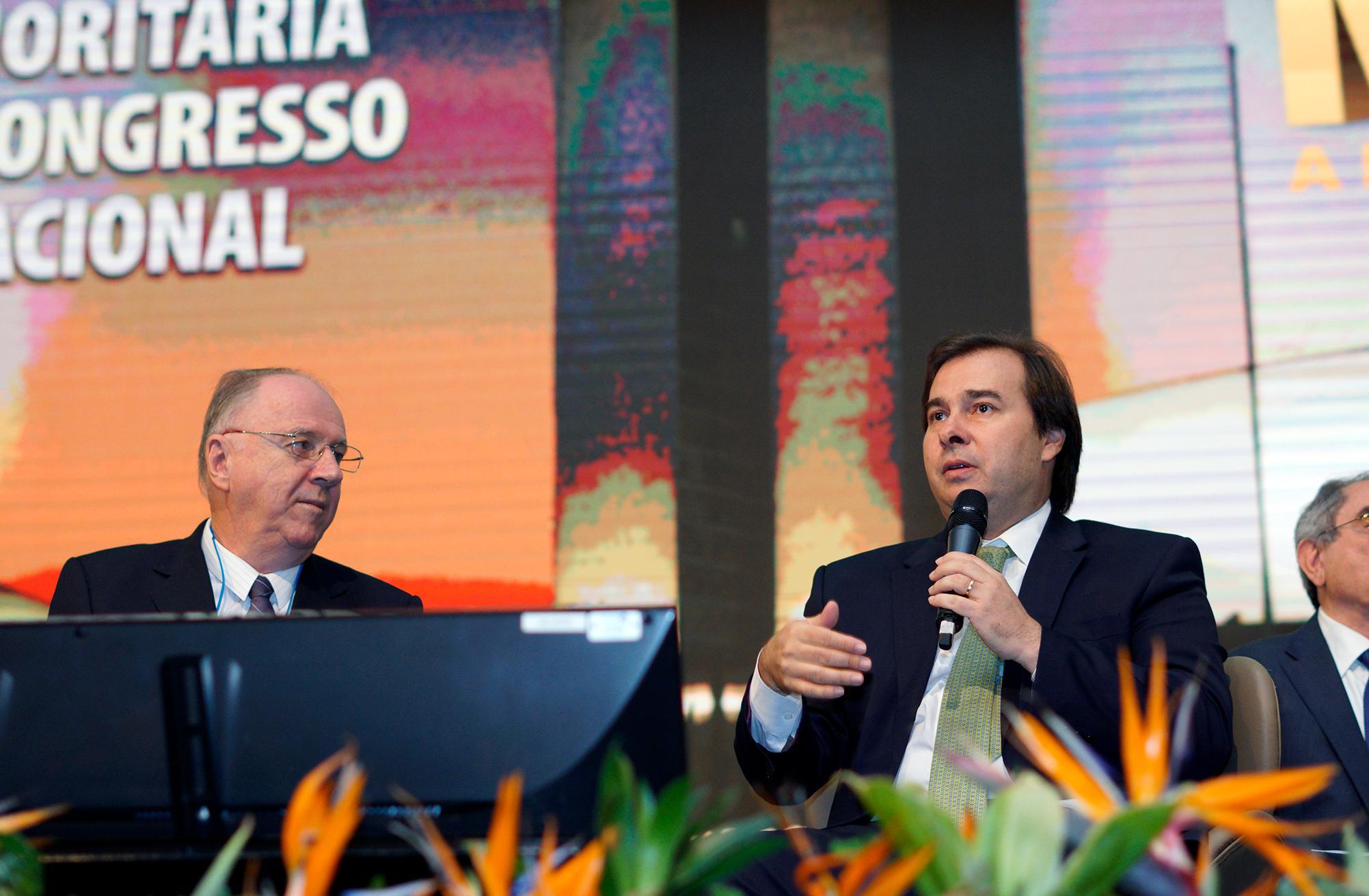 Marcha a Brasília em Defesa dos Municípios .Presidente da Câmara dep. Rodrigo Maia (DEM-RJ)