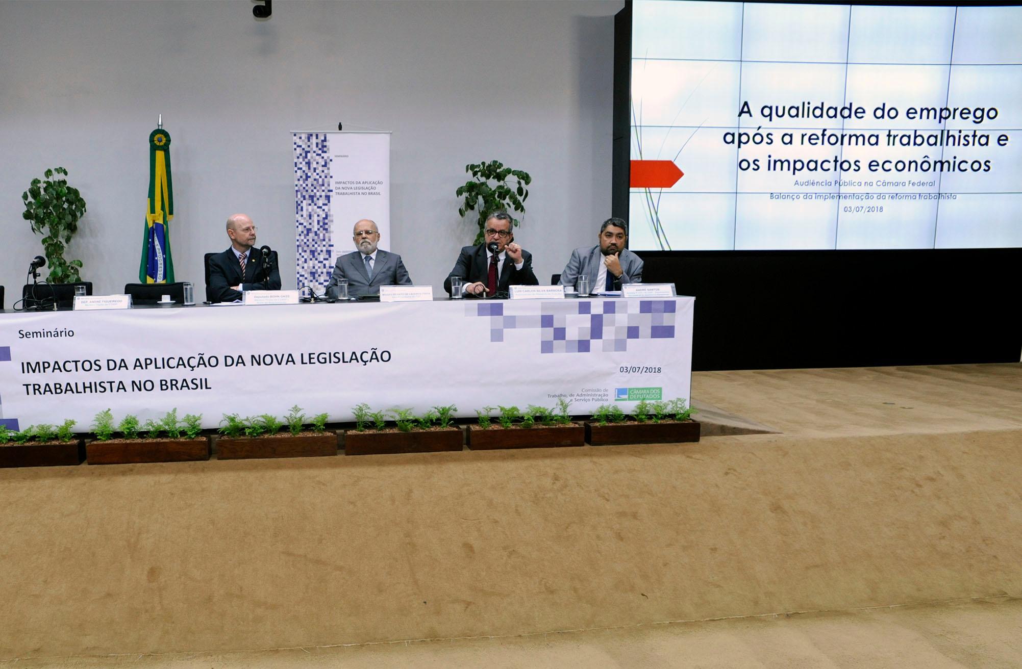 Seminário: Impactos da Aplicação da Nova Legislação Trabalhista no Brasil