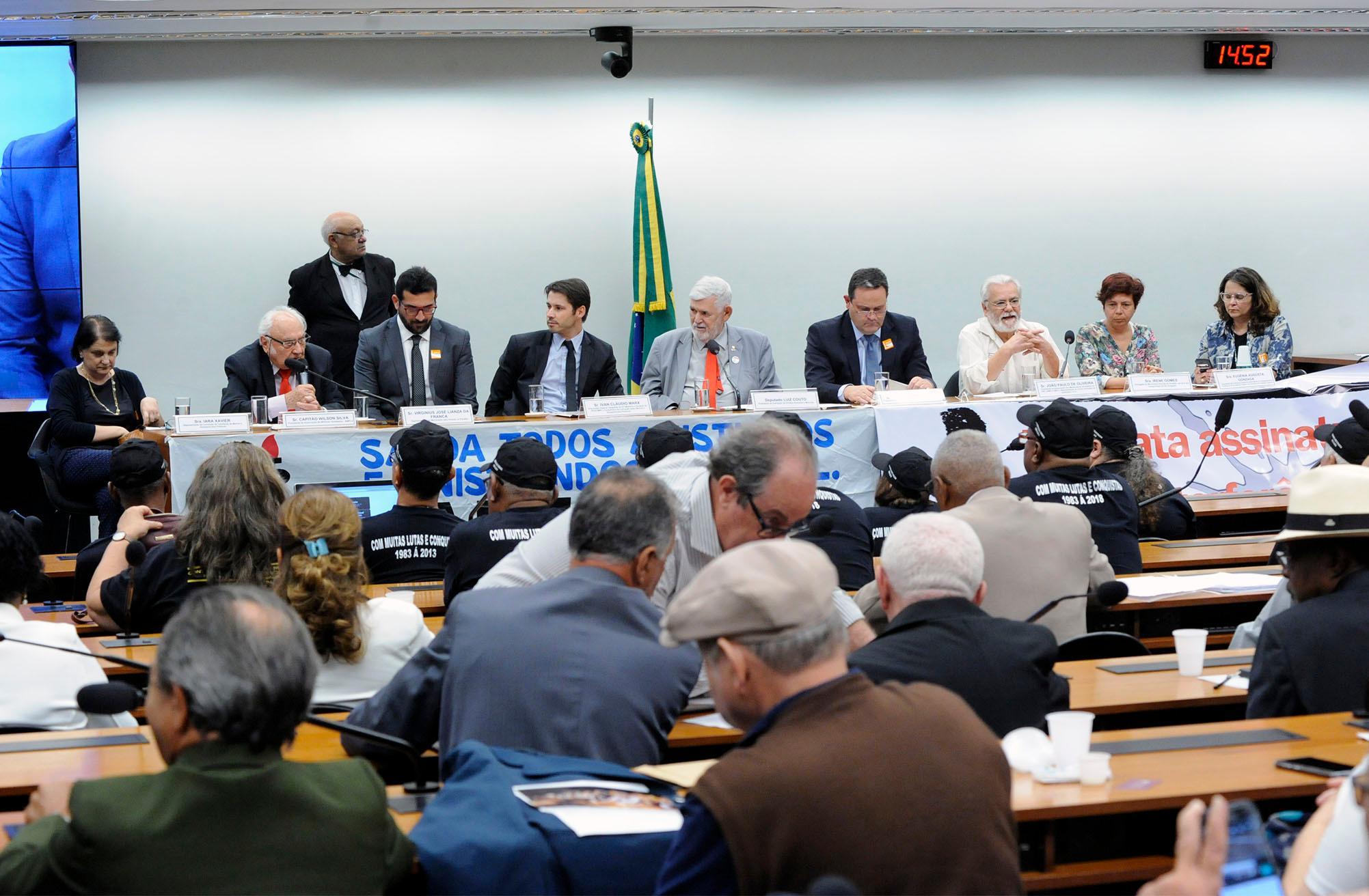 Audiência pública conjunta das comissões CDHM e SUBPMVJ sobre o 39º aniversário da anistia política e avaliação da atual situação da Comissão de Anistia