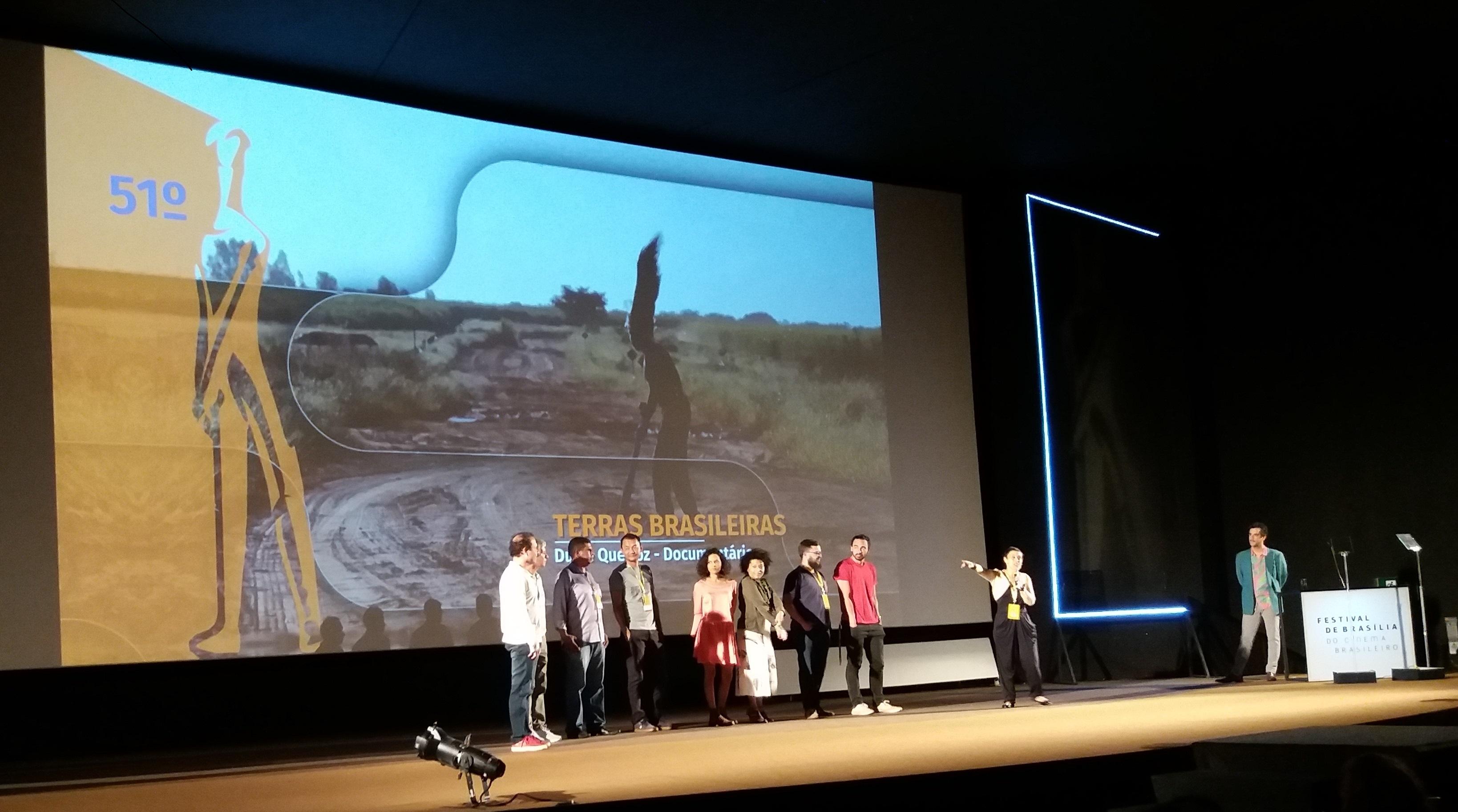 Cultura - geral - equipe filme Terras Brasileiras TV Câmara no Festival de Cinema de Brasília
