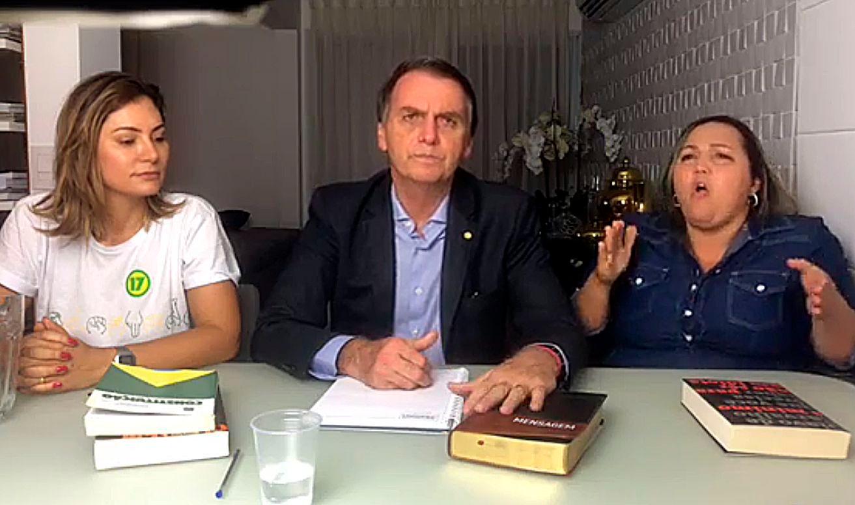 Jair Bolsonaro em discurso após ser eleito presidente da República.
