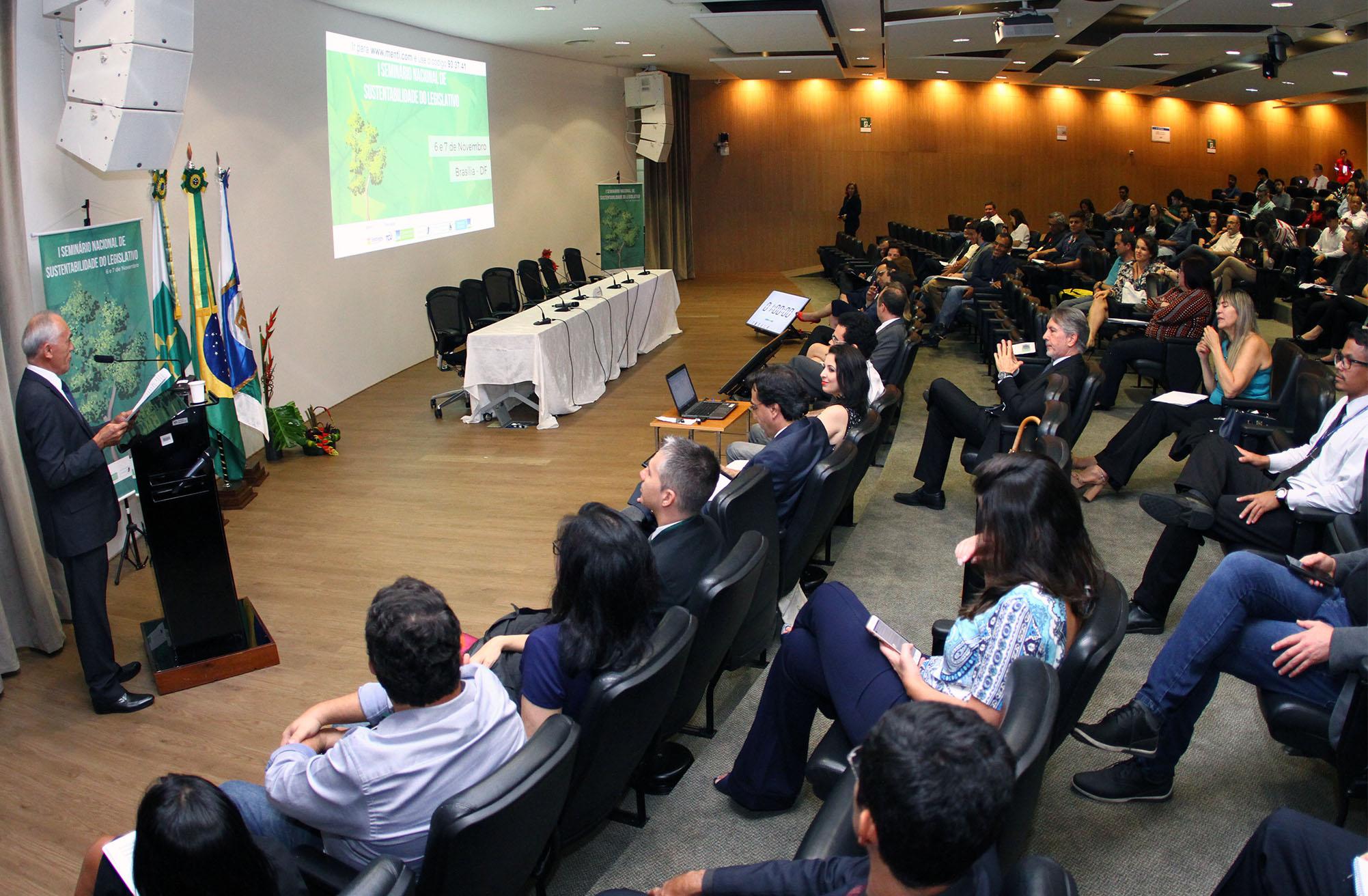 1º Seminário Nacional de Sustentabilidade no Legislativo