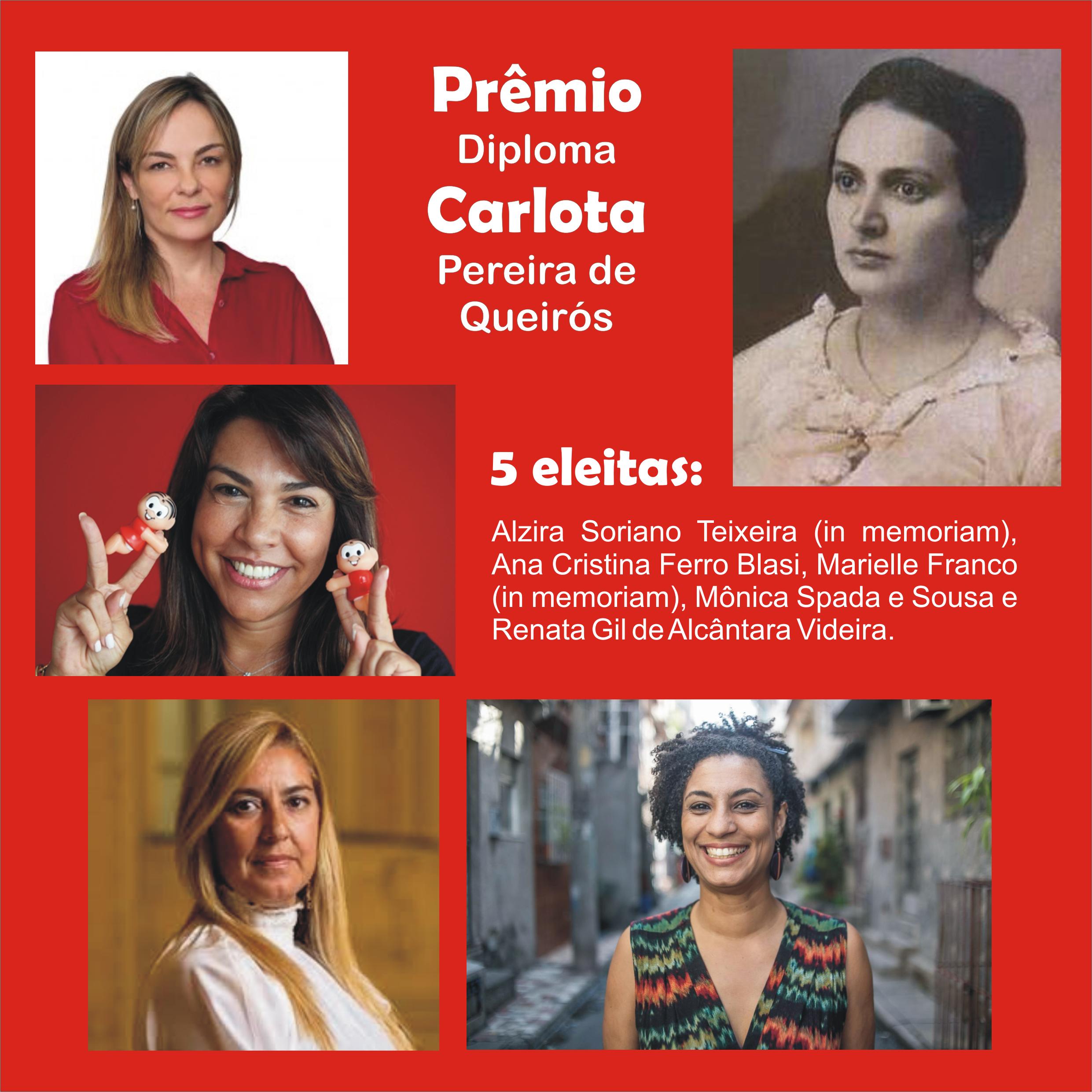 Direitos Humanos - Mulheres - Prêmio Carlota Pereira de Queirós 2018