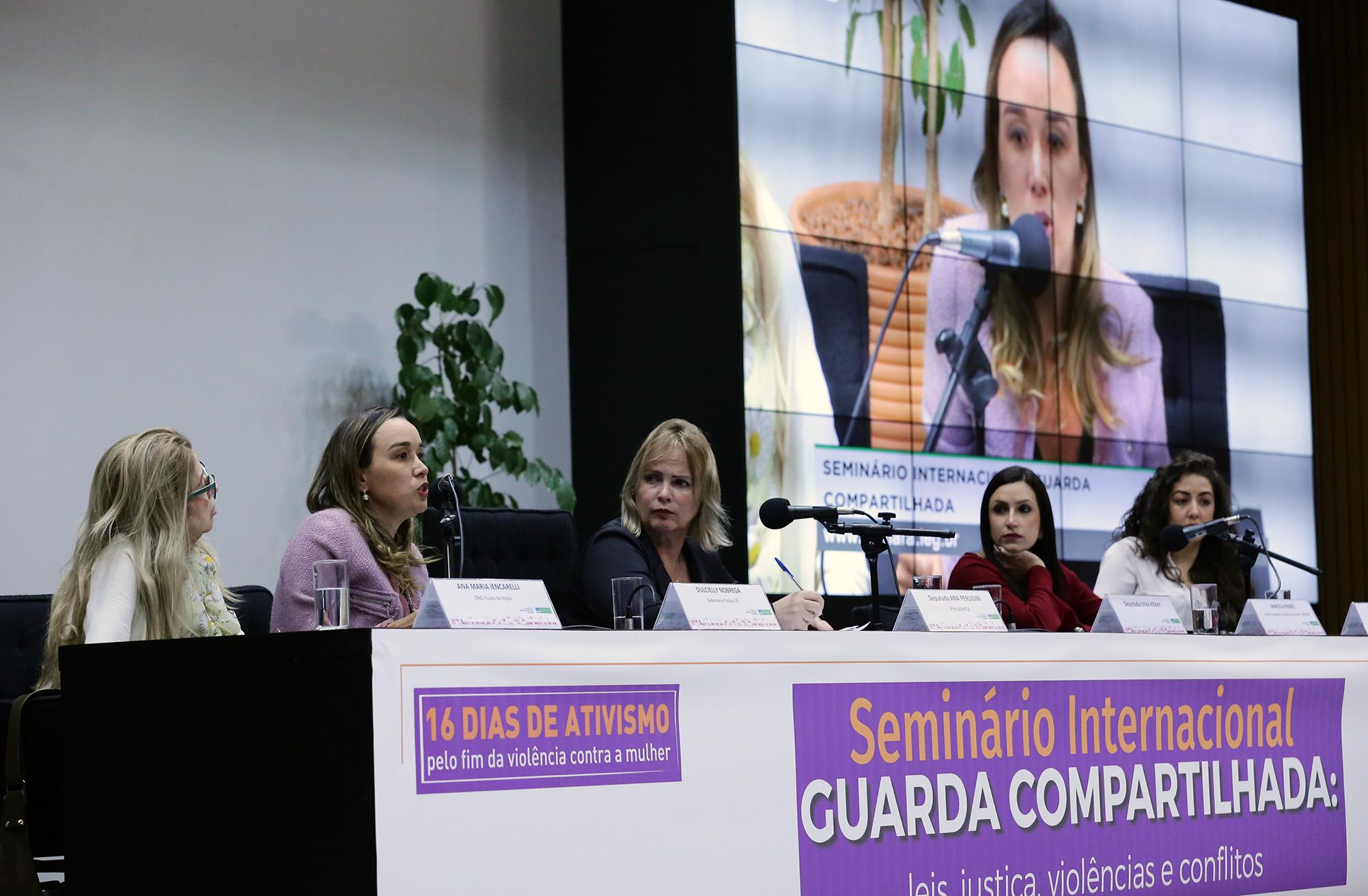 Comissão de Defesa dos Direitos da Mulher (CMULHER) e Comissão Mista de Combate à Violência contra a Mulher, da Secretaria da Mulher e da Procuradoria da Mulher no Senado Federal . Seminário Internacional guarda compartilhada.