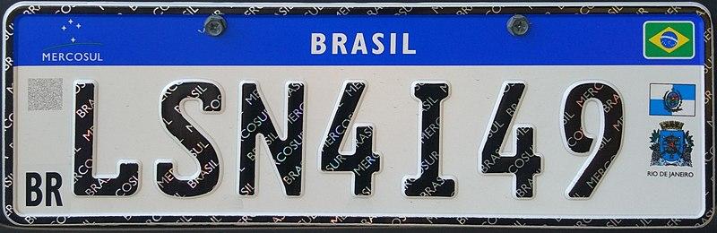 placa nova carro Mercosul padrão novo