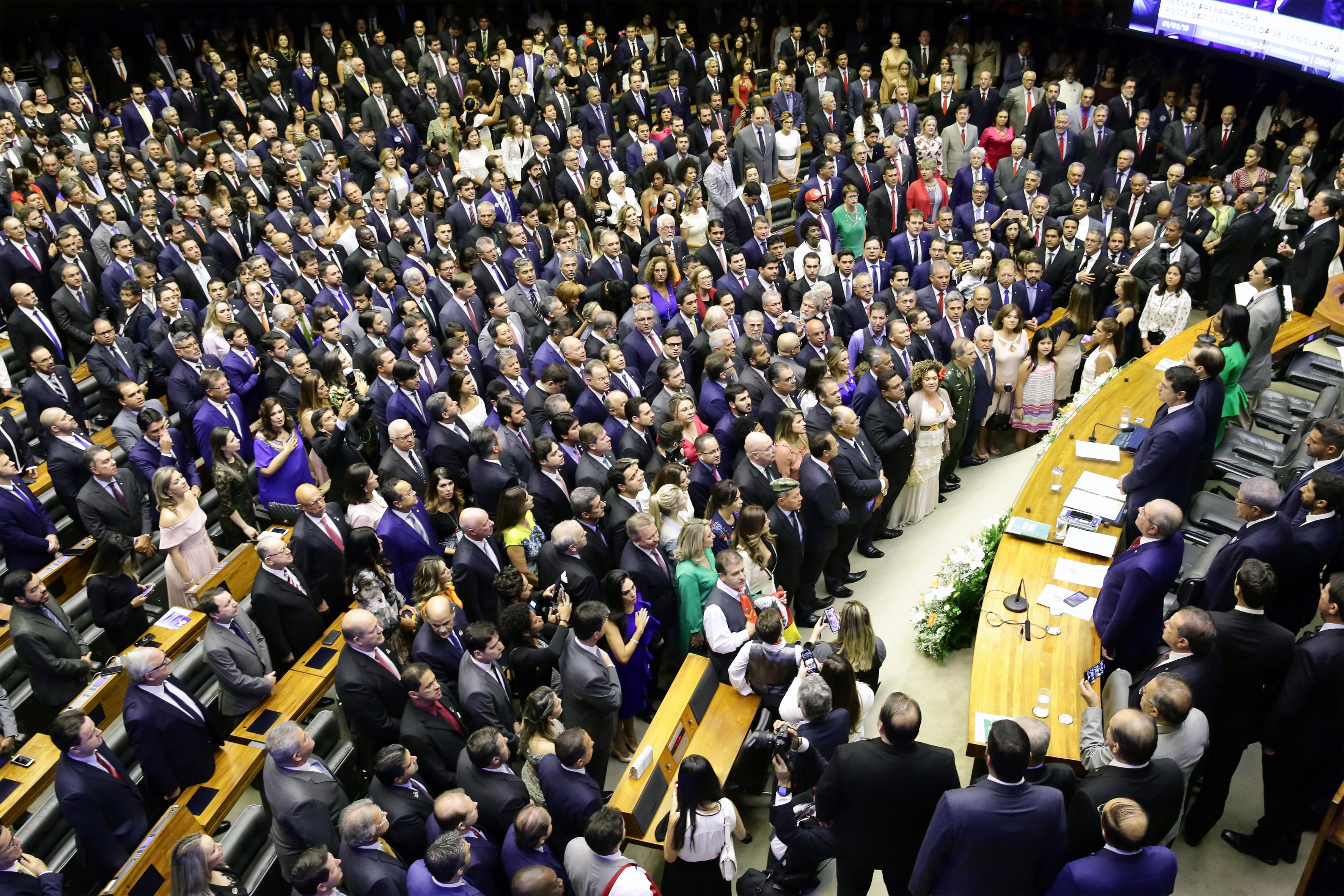 Cerimônia de posse dos Deputados Federais da 56º legislatura