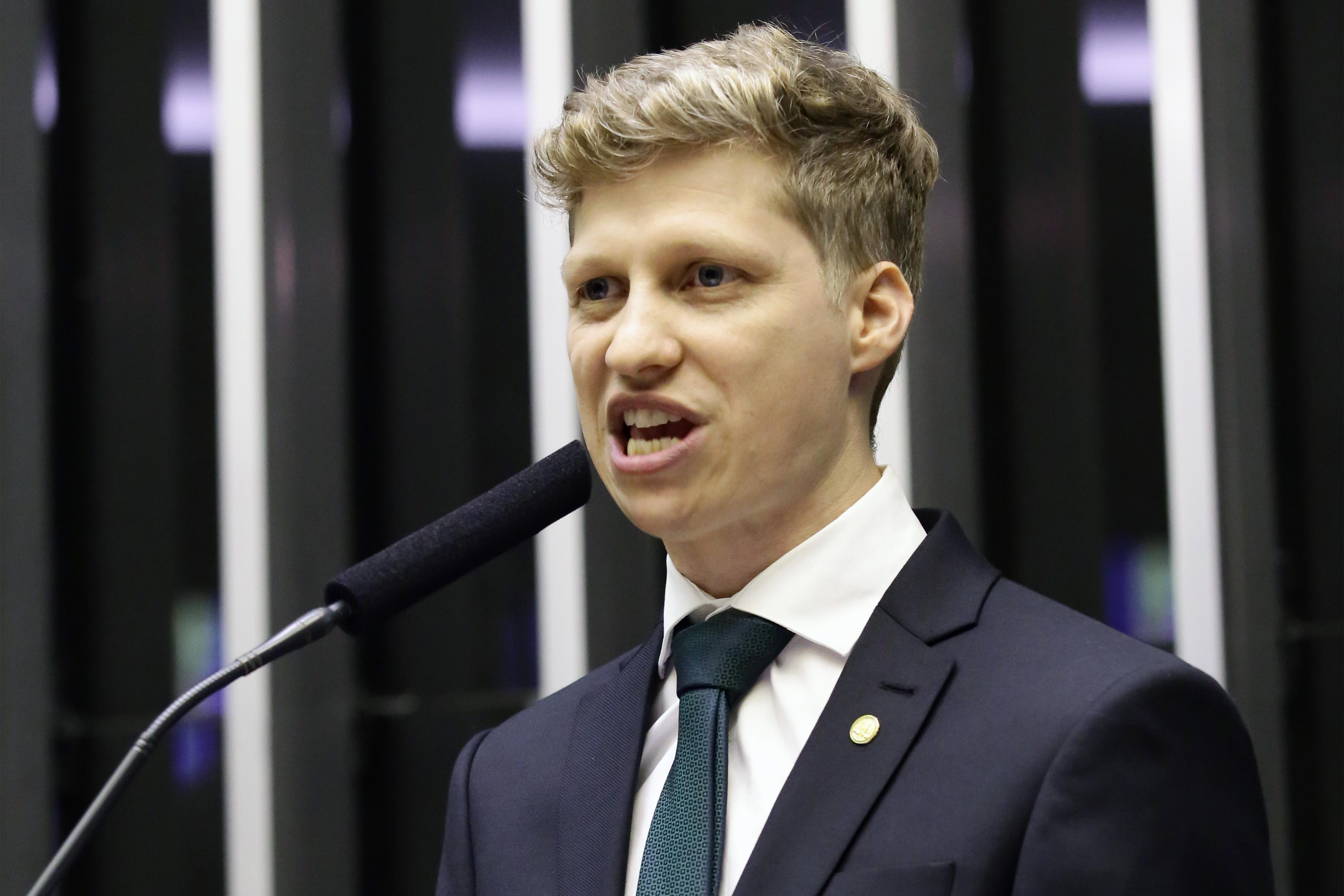 2ª Sessão Preparatória destinada à eleição dos membros da Mesa Diretora da Câmara dos Deputados para o biênio 2019/2020. Candidato à presidência da Câmara, dep. Marcel van Hattem (NOVO-RS)